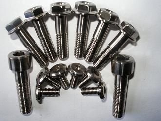 titanium disc and caliper bolts