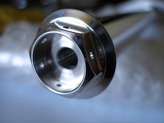 Yamaha R1 7075 alloy front wheel spindle bolt