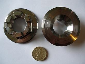 Porche titanium hub nuts