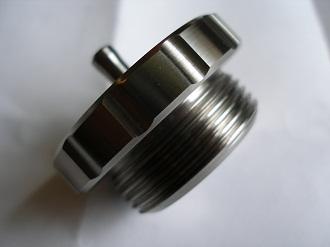 titanium petrol filler cap