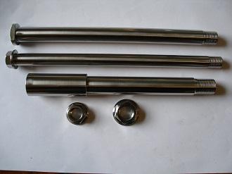 Montesa titanium wheel and swinging arm spindle set