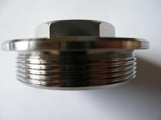 Titanium engine casing plug