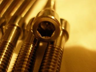 5/16 BSW titanium cap head bolts