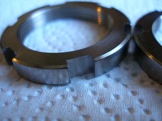 R1 titanium steering stem collar nuts