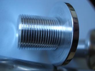 7075 alloy end caps, 16x1 thread