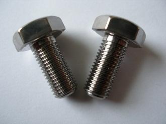 M8 x 1 titanium bolts