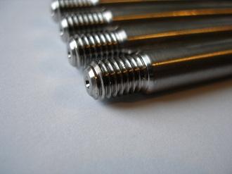 """Titanium 3/8"""" studs with M8 thread"""