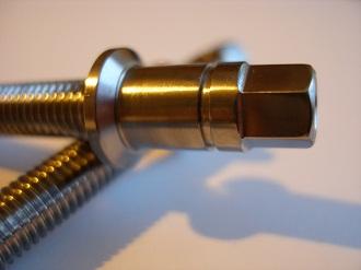 Titanium brake adjuster bolt head