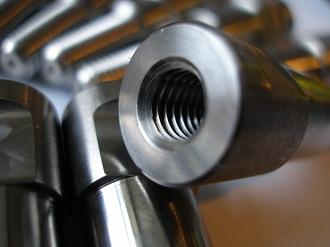 Titanium posts, M8 tapping
