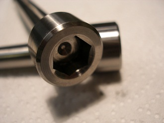titanium 3/8 UNF bolt heads