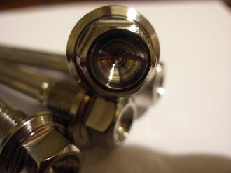 Titanium calliper bolt head