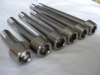 M12x1.25 titanium socket cap bolts