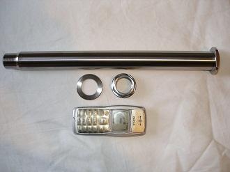Yamaha R1 titanium rear wheel spindle
