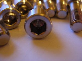 Titanium BST sprocket drive pin head