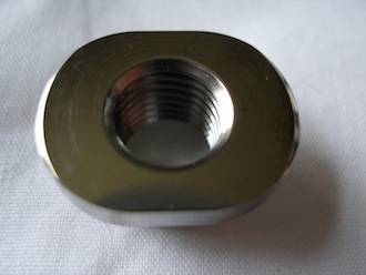 Titanium sprocket drive pin nut for KTM BST wheel, with 17mm radius
