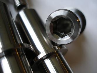 Titanium sprocket drive pins for KTM BST wheel, spanner end