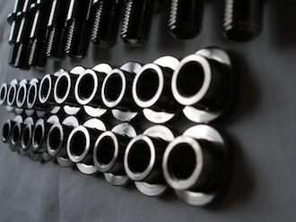 Titanium sprocket drive pin nuts for KTM BST wheel
