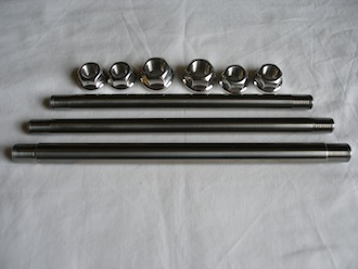 Titanium spindles with 7075 alloy nuts