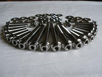 Titanium Mini suspension bolt set