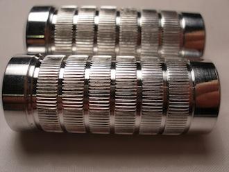 7075 alloy toe pegs knurling