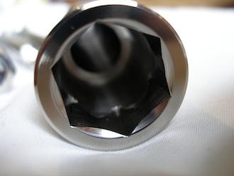 Yamaha R1 titanium front axle head