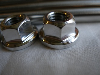 Ducati titanium cylinder head stud 7075 alloy nuts