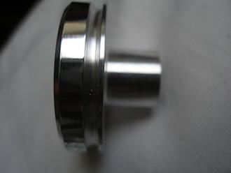 Triumph triple 7075 alloy swinging arm end cap, oil seal groove