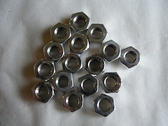 Honda 500/4 &350 twin 7075 alloy tappet adjuster nuts