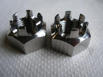 M16 titanium castle nuts
