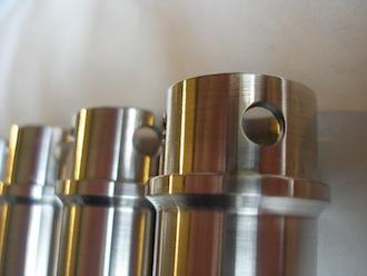 Triumph TR65 7075 alloy pushrod tube oil drain holes