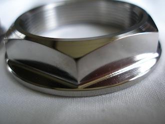Honda SP2 titanium head stem top nut, 38mm A/F