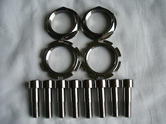 Honda SP2 titanium head stem nuts and caliper bolts