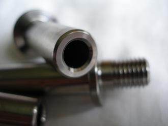 Honda titanium sprocket drive pin shaft, bored hollow