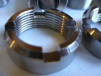 Suzuki Hyabusa titanium engine mounting frame insert ring nut
