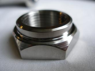 Kawasaki titanium clutch hub nut