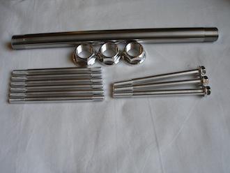 Triumph Triple titanium and 7075 alloy parts