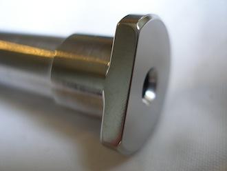 Titanium wheel stud head