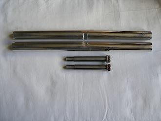 7075 alloy link bars & titanium M14 bolts