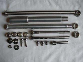 Montessa titanium and 7075 alloy parts