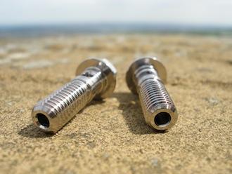 Aermacchi titanium banjo bolts oil feed holes