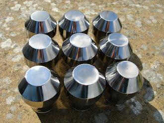 Titanium gear stick knobs, in the sun