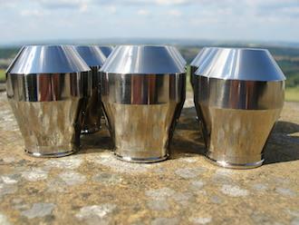 Titanium gear stick knobs in formation