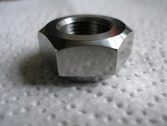 Titanium 5/8x20 tpi shouldered nut