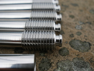 Suzuki GSXR titanium throttle cable holders