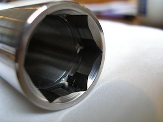 Turbo Bandit titanium front wheel axle head