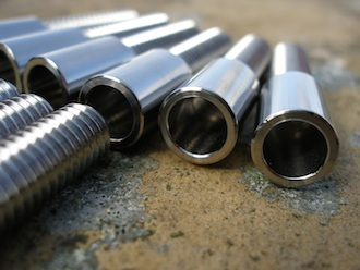 Suzuki GSXR titanium clutch cable adjusters