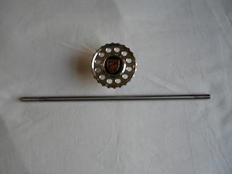 BSA Goldstar steering damper knob and titanium rod