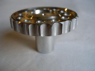 6082 alloy BSA Goldstar steering damper knob thumb grips