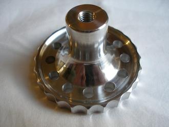 6082 alloy BSA Goldstar steering damper knob underneath