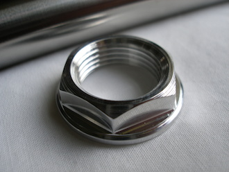 Aprilia RS250 7075 alloy rear wheel spindle nut